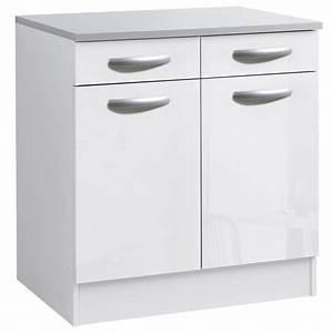 Meuble Bas Blanc Laqué : meuble bas de cuisine blanc laqu cuisine id es de ~ Edinachiropracticcenter.com Idées de Décoration