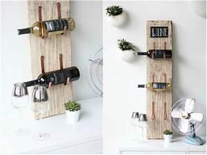 Flaschenregal Selber Bauen : een uniek wijnrek van hout 15 design items voor in jouw interieur ~ One.caynefoto.club Haus und Dekorationen