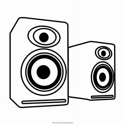 Speakers Clipart Speaker Drawing Sketch Drawn Loudspeaker