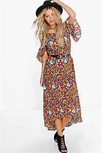 dasdania floral maxi dress at boohoocom With boohoo robe longue