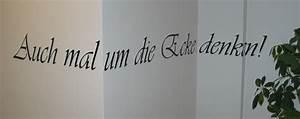 Gardinenstange Um Die Ecke : auch mal um die ecke denken wandtattoo ~ Michelbontemps.com Haus und Dekorationen