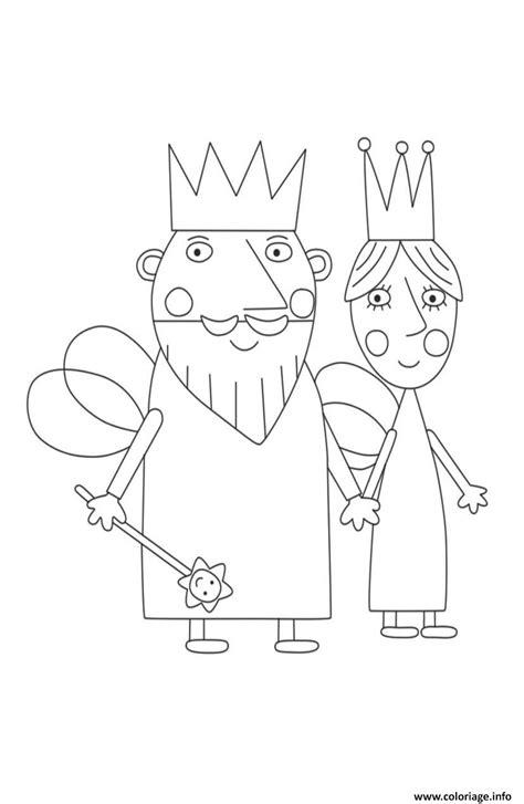 coloriage le roi  la reine le petit royaume de ben