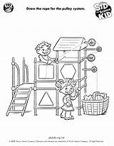 Simple Science Machines Machine Draw Printables Pbs Grade Kid Pulley Sid Way Projects Physics Activities Own Funbook 4th Teacher Pbskids sketch template