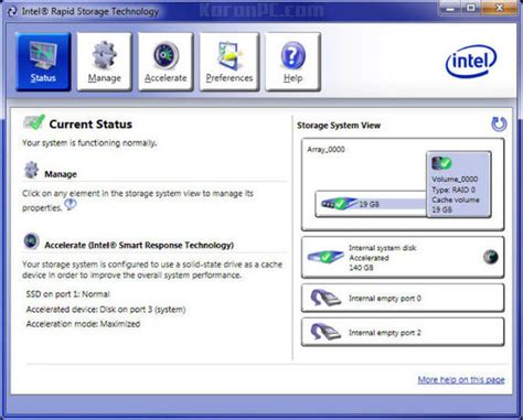 Intel Resume Technology Driver by Intel Rapid Storage Technology Driver 15 2 10 1044 Karanpc