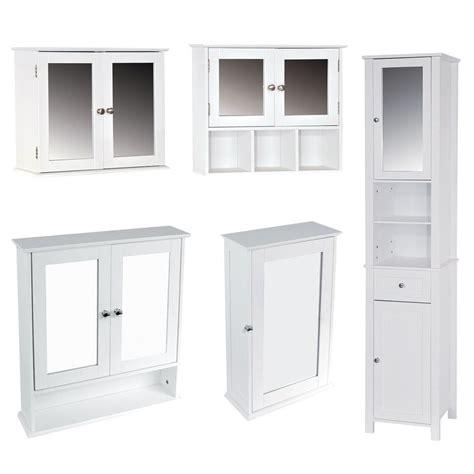 Mirrored Bathroom Cupboard by Bathroom Cabinet Single Mirrored Doors Wall