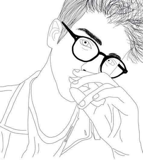 imagen de boy outline  tumblr outline drawings tumblr outline outline art