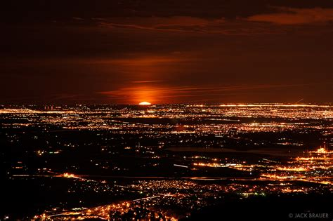 moonrise denver front range colorado mountain