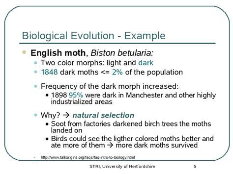 Biological Evolution Example