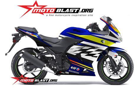 250r Modif by Modif Striping Kawasaki 250r Karbu Blue Motoblast