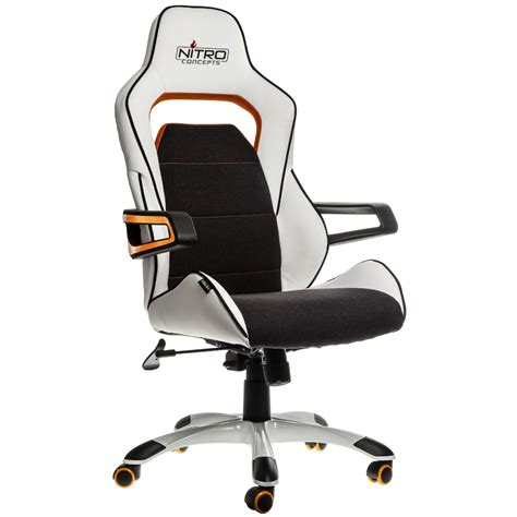 fauteuil bureau gaming e220 evo gaming chair white orange nitro concepts