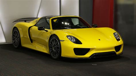 porsche spyder yellow rare bright yellow porsche 918 spyder could make you wince