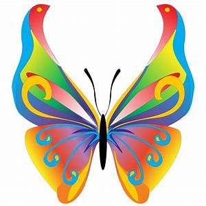 Free Butterfly Clip Art | Floral Butterfly Free Vector ...