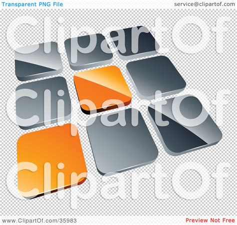 clipart illustration of a pre made logo of two orange
