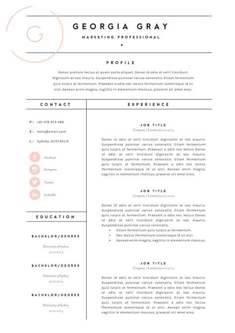 Resume Layout Templates by Resume Template 3 Page Cv Template By The Template Depot