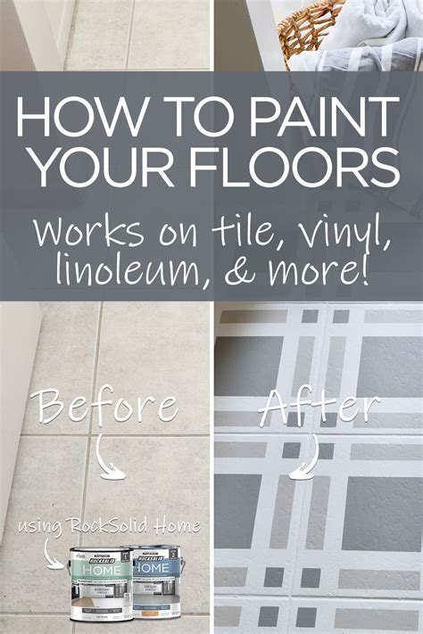 refresh  outdated tile  paint flooring