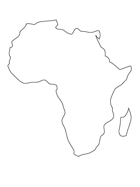 earth outline africa printable map of africa free worksheet and asia