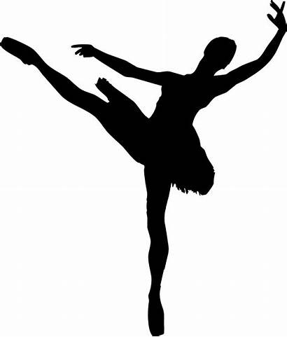 Silhouette Ballet Clipart Ballerina Woman Getdrawings Cliparts