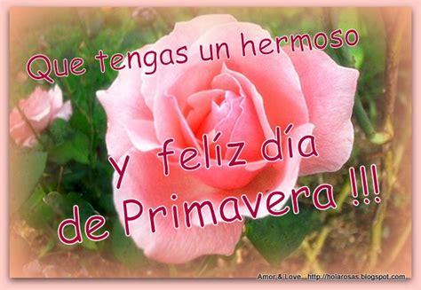 Imagenes De Amor: Tarjetas Feliz Dia Primavera Rosas