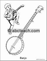Banjo Music Coloring Worksheets Teaching Abcteach Education sketch template