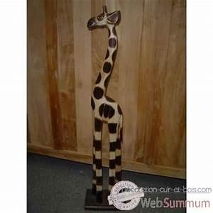 Animaux En Bois Décoration : girafe en bois animaux bois taille 5 lcdm023 de sculpture en bois ~ Teatrodelosmanantiales.com Idées de Décoration