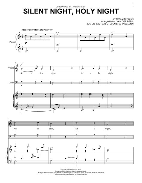 This first sheet helps kids learn how to play silent night by ear. Silent Night, Holy Night | Sheet Music Direct