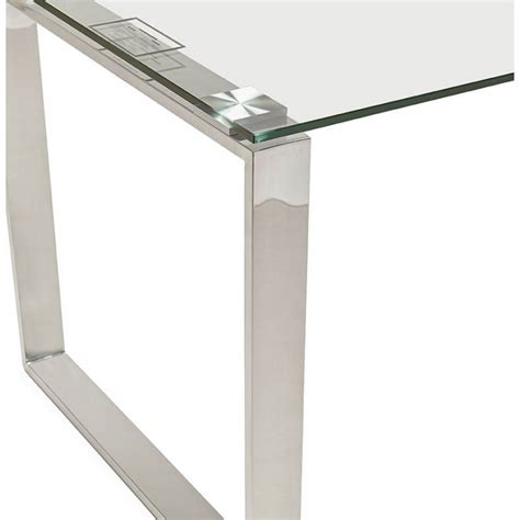 bureau verre design contemporain bureau droit table design et contemporain ingrid en verre