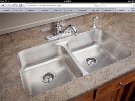 undermount sink in laminate