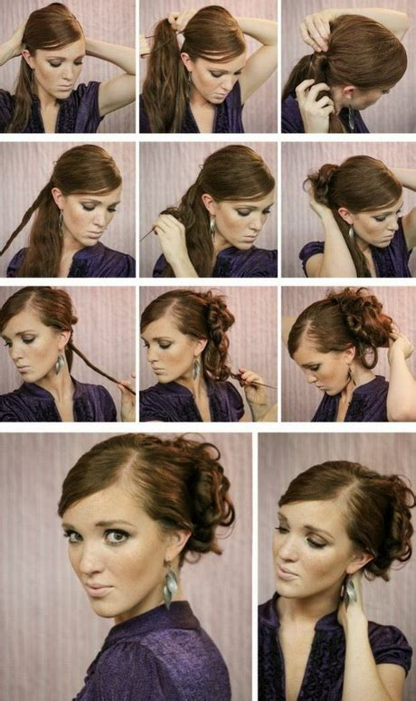 hochsteckfrisuren einfach selber machen lange haare einfach hochstecken