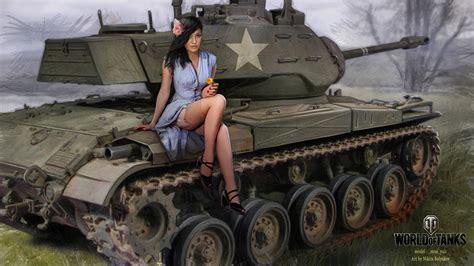 World Of Warplanes Wallpaper Images World Of Tanks Nikita Bolyakov Tanks M41 Girls Games Painting