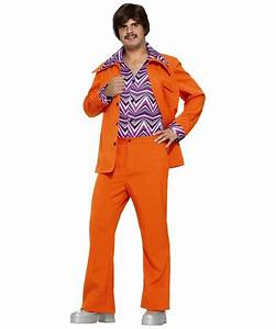 70s Leisure Suit Costume - Adult Costume - Orange ...