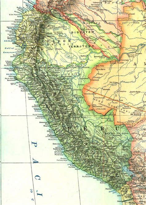 Mapa histórico del Perú (1921)   Fuente: National ...