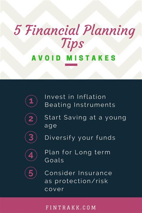 financial planning tips fintrakk