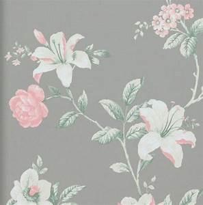 Tapete Muster Grau : vlies tapete florales blumen muster grau ros rosa creme ~ Michelbontemps.com Haus und Dekorationen