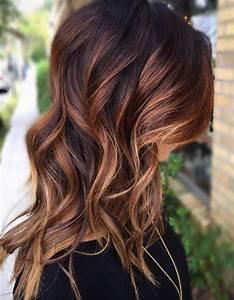 Balayage Cheveux Frisés : balayage cuivr sur brune balayage cuivr le reflet chaud adopter cette saison elle ~ Farleysfitness.com Idées de Décoration