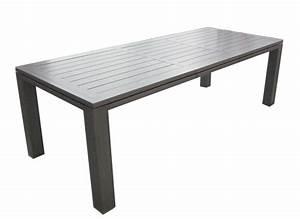 Table De Jardin En Aluminium : table de jardin aluminium 180 240cm latino oc o proloisirs ~ Teatrodelosmanantiales.com Idées de Décoration
