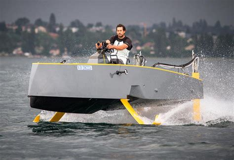 Hydrofoil Boat by Hydros Retractable Hydrofoil Boat Wordlesstech