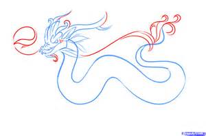 Easy to Draw Chinese Dragon Drawings