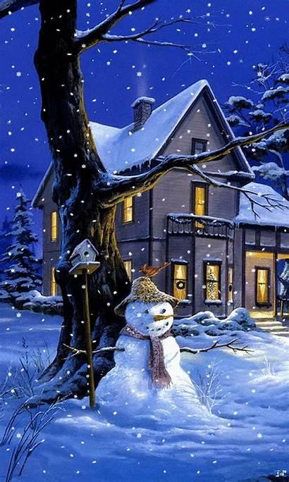 Christmas Animated Iphone Phone Scenes Winter Snow