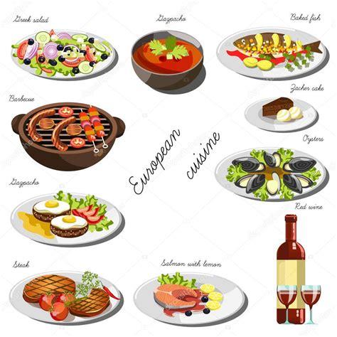 cucina europea ipastock collezione di piatti di cucina europea