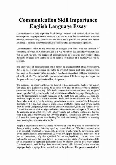 Essay Importance English Language Communication Spoken Skills