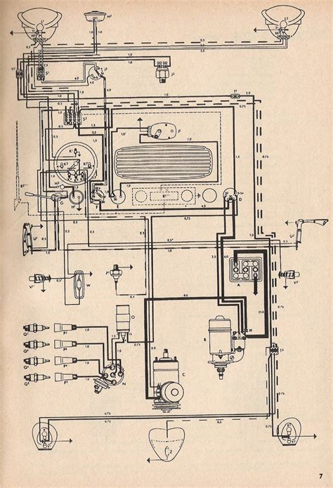 1965 Vw Starter Wiring Diagram by 1954 Beetle Wiring Diagram Thegoldenbug