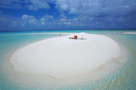 The Maldives Ocean Beach Sand Water Clouds Girl Maldives