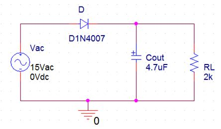 wave rectifier circuit withwithout filter