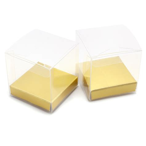 25pcs clear gift boxes pvc sweets chocolate wedding favour