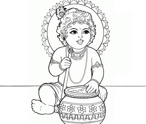 krishna coloring pages print coloring