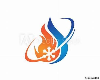 Hvac Heating Air Conditioning Symbols Icons Vector