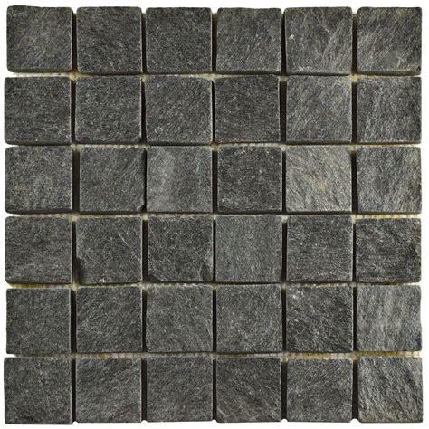 merola tile crag quad black quartzite 12 in x 12 in x 13