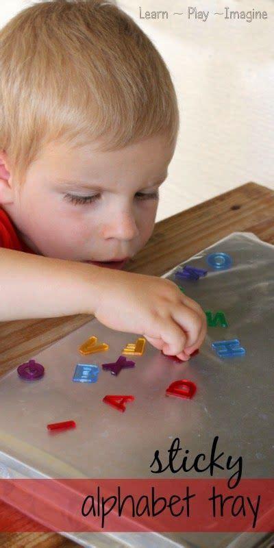 Alphabet Sticky Tray ~ Learn Play Imagine | Preschool ...