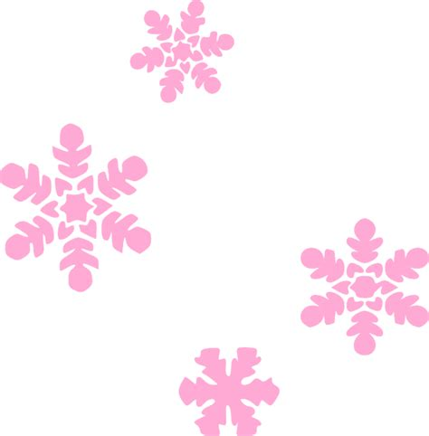 Light Pink Snowflake Background by Snowflakes Light Pink Clip At Clker Vector Clip