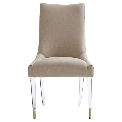 selena modern classic acrylic upholstered taupe dining